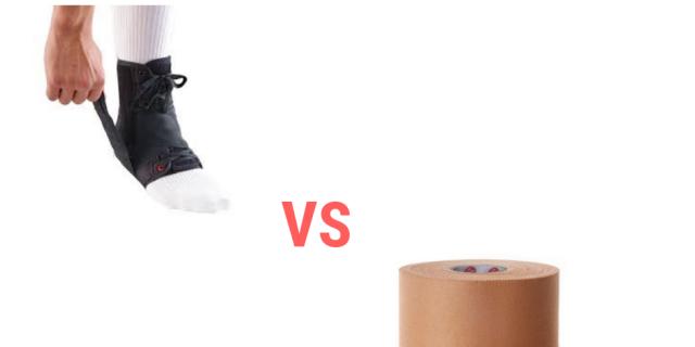 Tape versus brace for Ankle sprain