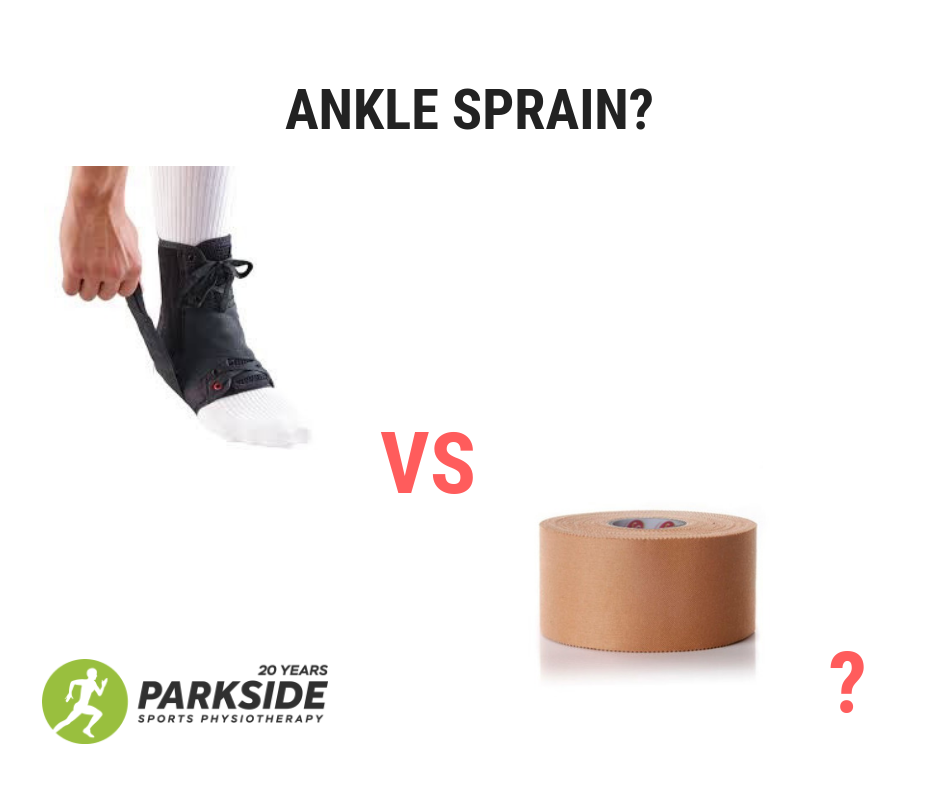 Tape versus brace for Ankle sprain